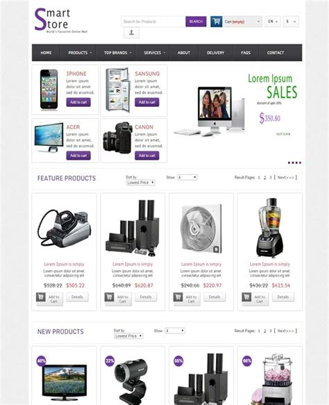 templates for electronics website 16 highquality electronics website templates free