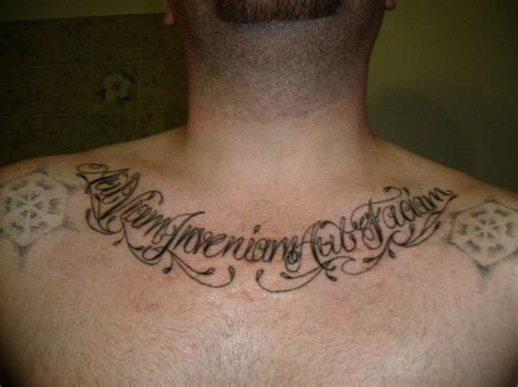 latin tattoo fonts lettering on chest tattooimages biz