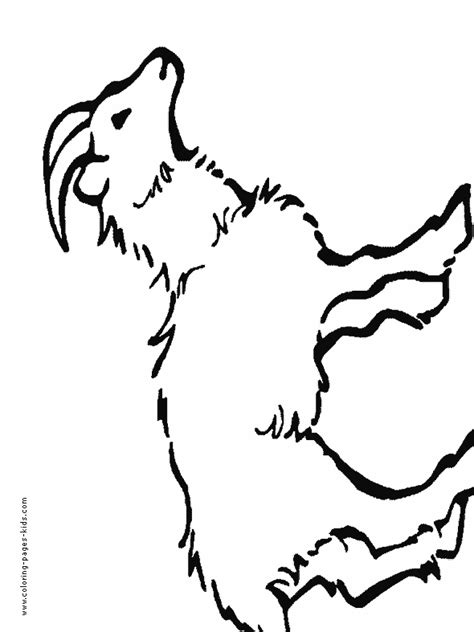 farm goat coloring page free kid goat coloring pages