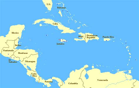 america and caribbean map quiz christadelphian ecclesias in central america