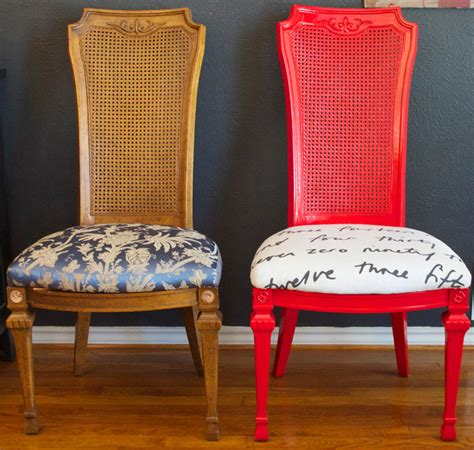 Diy Reupholster Dining Chair Diy Ideas Spray Paint And Reupholster Your Dining Room Chairs Eclectic Dallas By