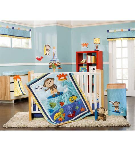 Carters Crib Bedding Set S Laguna Monkey 4 Crib Bedding Set