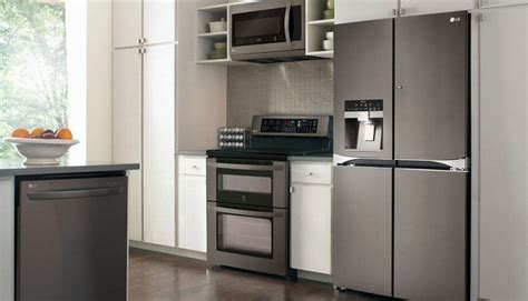 Matte Black Kitchen Cabinets by Lg Debuts Black Stainless Steel Kitchen Appliances Baby