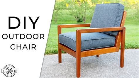 diy modern outdoor chair   build youtube