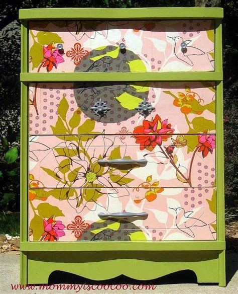 Fabric Decoupage Dresser - 1000 images about painted furniture on