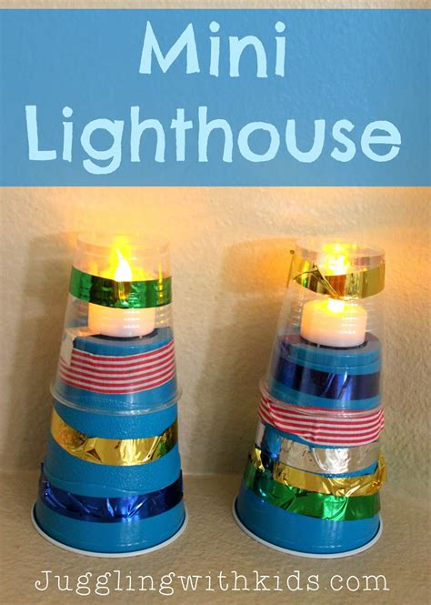 easy light ideas mini lighthouse craft juggling with