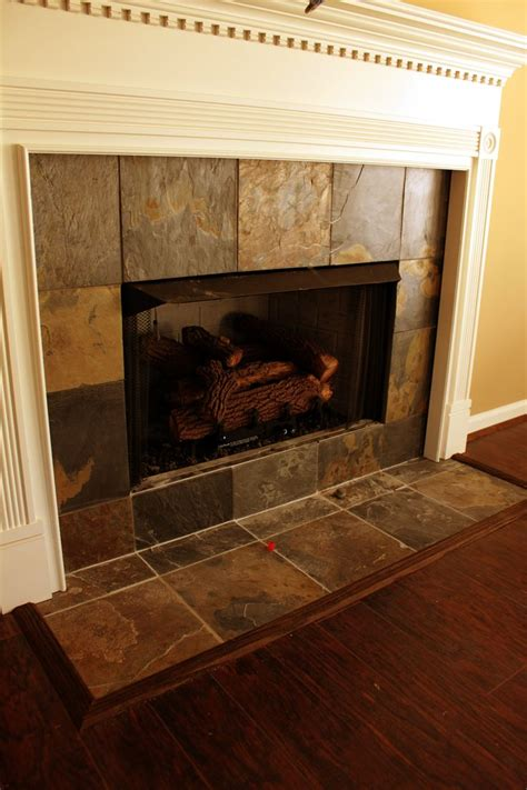 Tiled Fireplace Surround by Ceramic Tile Fireplace Surround Fireplaces Ideas