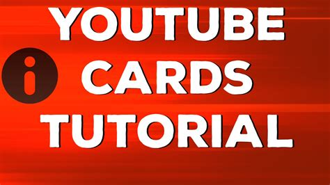 Youtube Gift Card - youtube cards tutorial increase viewer engagement channel empire