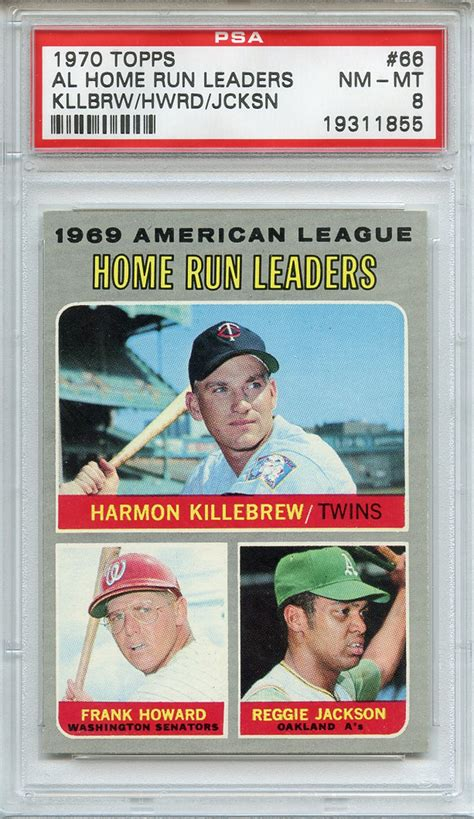 lot detail 1970 topps 66 al home run leaders kllbrw hwrd