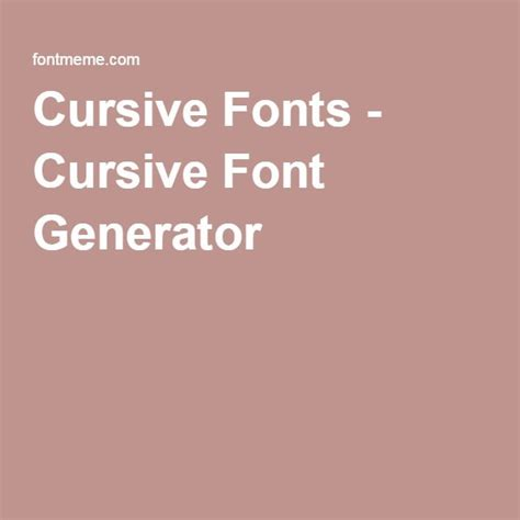 Wedding Cursive Font Generator by Best 20 Cursive Font Generator Ideas On