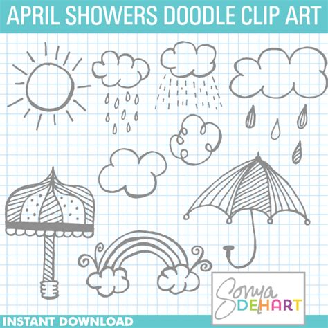 free doodle lines april free downloads clipart