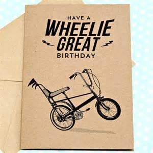 wheelie great retro birthday card by papergravy notonthehighstreet
