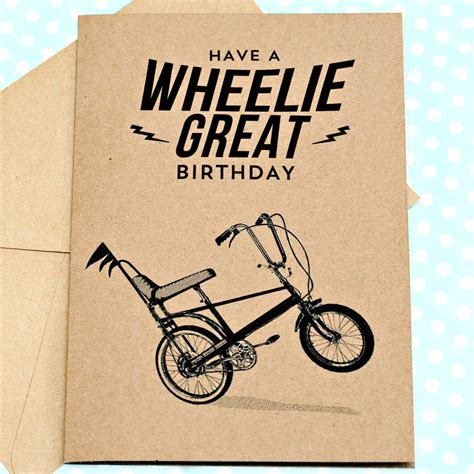 how to make great birthday cards wheelie great retro birthday card by papergravy