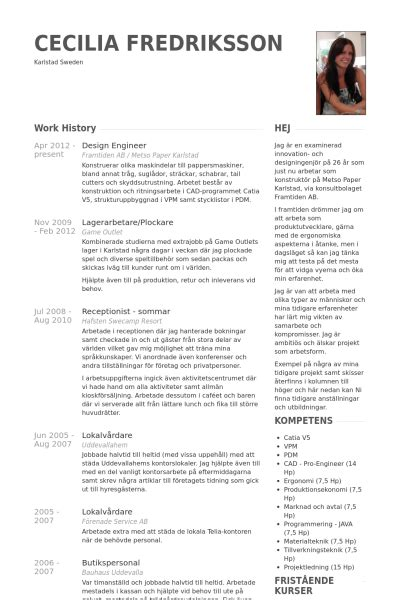 design engineer resume exles design engineer resume sles visualcv resume sles