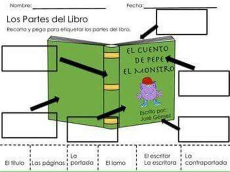 libro un tipo encantador spanish partes del libro actividades para preescolar libros bibliotecas y lectura