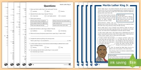 biography ks2 twinkl ks2 martin luther king differentiated reading comprehension