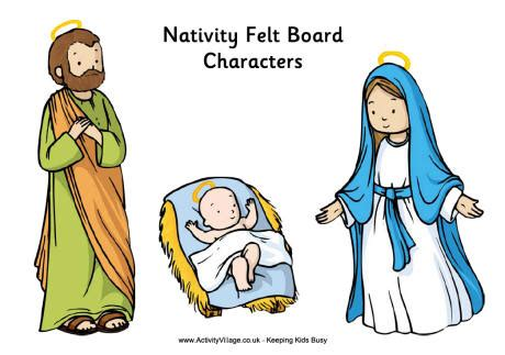 printable nativity scene characters nativity felt board printables to print