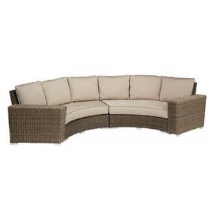 curved sectional patio furniture coronado curved sectional collection by sunset west