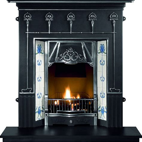 Blue Mantle Fireplaces by Amsterdam