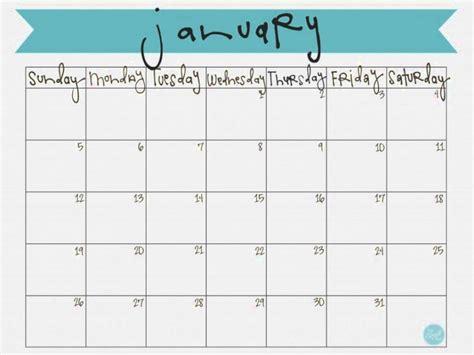 printable calendar 2018 cute cute january 2018 calendar template printable templates