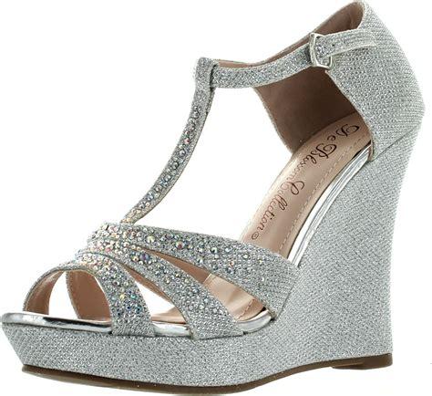 Sandal Platform 2 deblossom womens dressy glitter rhinestone t