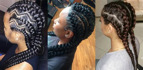 Big Braids Hairstyles by Amazing Goddess Braids Hairstyles Hairdrome