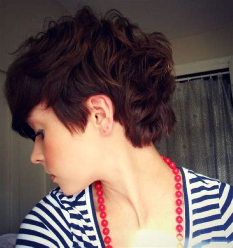 Wavy Thick Hair With A Pixie Cut | 19 cute wavy curly pixie cuts we love pixie haircuts