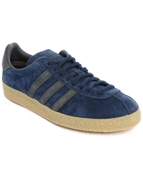 sneakers for adidas originals topanga navy suede sneakers in blue for