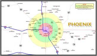 arizona map and surrounding areas map area