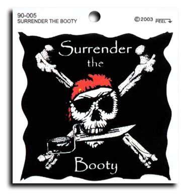buy surrender  booty decal flagline