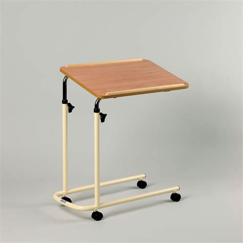 overbed table with wheels overchair table cantilever with wheels mobility solutions
