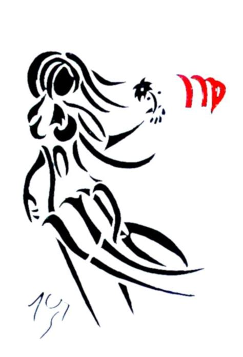 virgo design tattoo virgo tribal designs