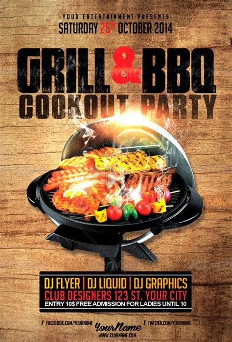 bbq flyer template best 10 bbq summer flyer templates psd flyer for