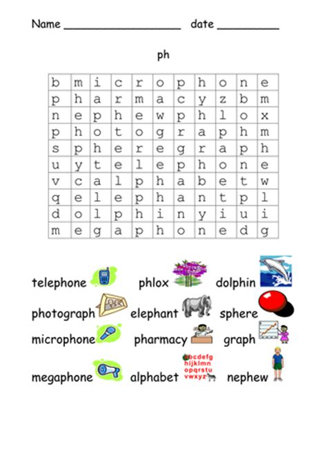ph pattern words more phonic word searches by cariad2 teaching resources