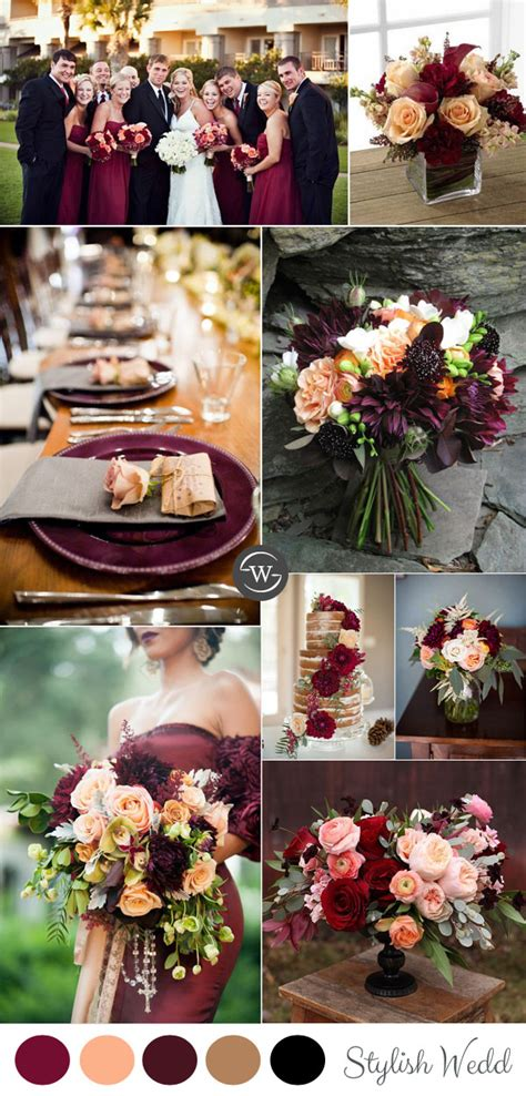 wedding colour themes autumn and winter weddings wedding trends 10 fantastic burgundy color combos for