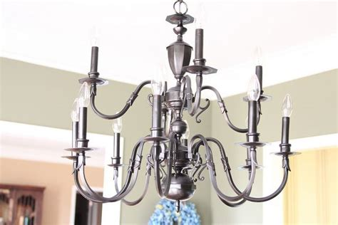 Spray Paint Chandelier Brass Chandelier Redo Chandelier
