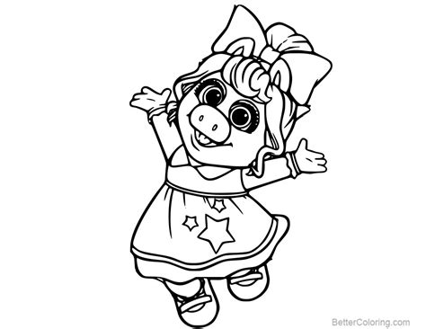 coloring for babies muppet babies baby miss piggy coloring pages free
