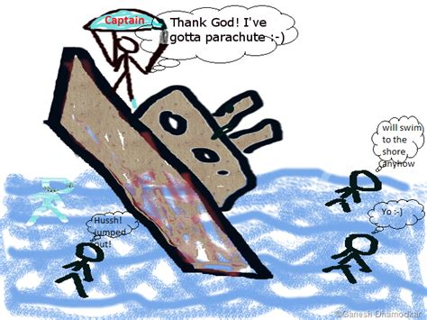 sinking boat cartoon the captain of a sinking boat a cartoon the blog of