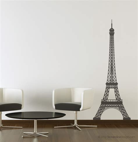 eiffel tower wall decor eiffel tower vinyl wall decoration 5