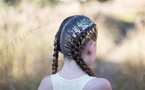 Dutch Glitter Braids   Cute Girls Hairstyles