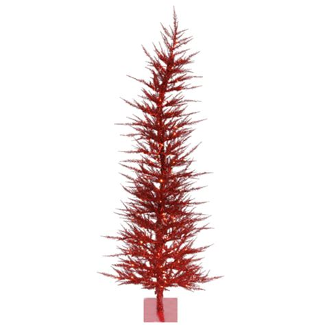section of pre lit tree out 4 pre lit whimsical red tinsel artificial christmas tree