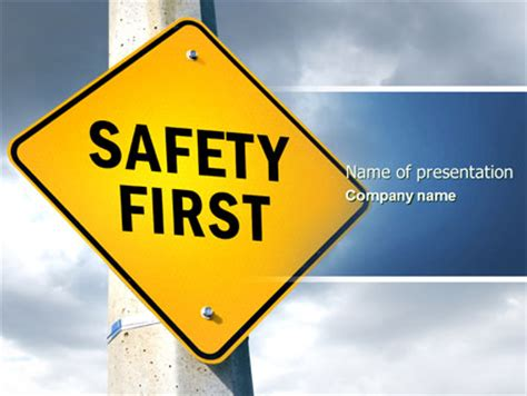 Safety First Powerpoint Template Backgrounds 04449 Poweredtemplate Com Microsoft Powerpoint Templates Safety
