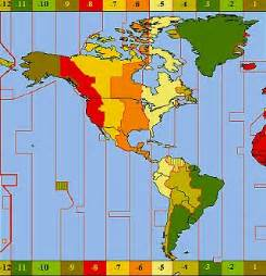 best photos of time zone map and south america