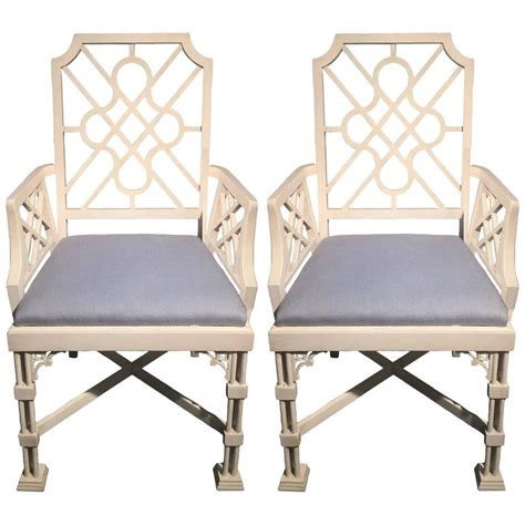 chinese chippendale style arm chair for sale at 1stdibs pair of white painted chinese chippendale style fretwork