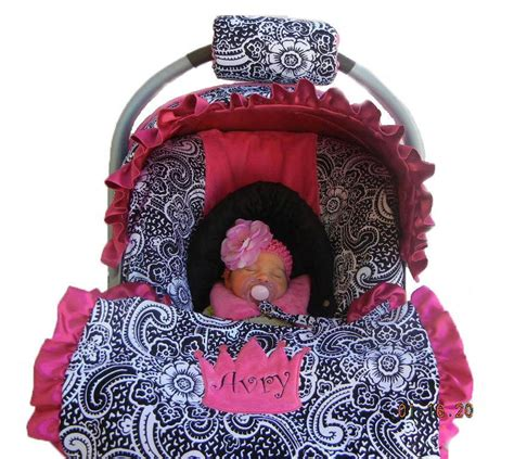 cover car seat baby baby car seat cover paisley with pink minky dot by isewjo
