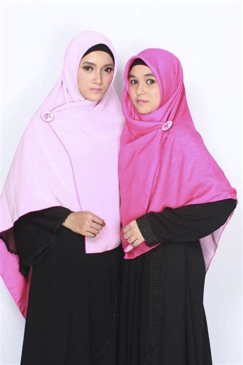 Hicon Bolak Balik Sella Khimar Bolak Balik Pink Muda Fushia Alsa