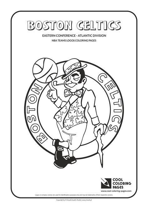 printable coloring pages nba team logos boston celtics nba basketball teams logos coloring pages