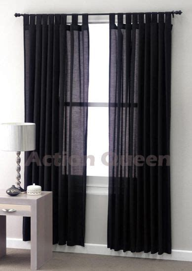 black linen drapes sheer tab top curtains sheer black curtains club linen