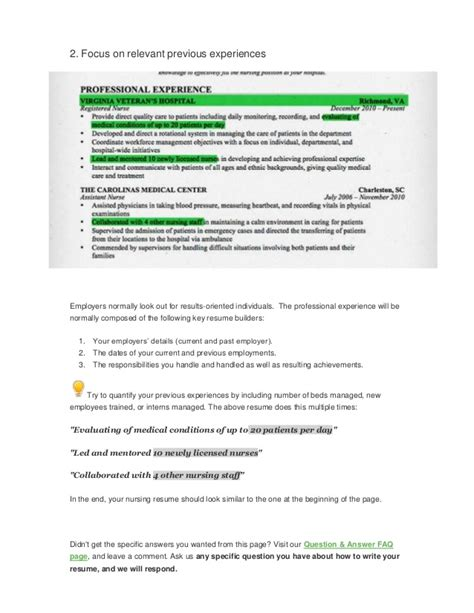 How To Write A Resume For A Nursing by How To Write A Nursing Rn Resume