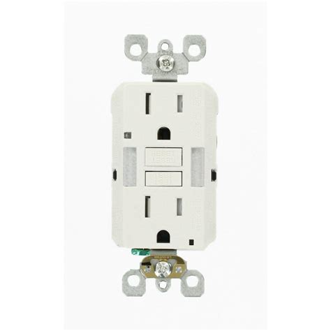 gfci outlet with night light leviton 15 amp 125 volt combo self test duplex guide light